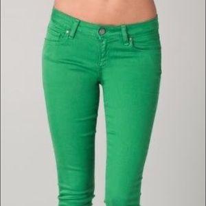 Paige Verdugo green jeans